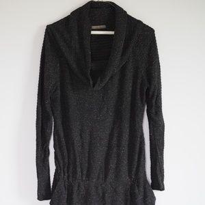 Zara basic cowl neck sweater dress w/ pockets L